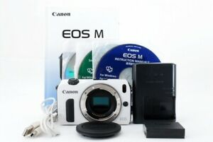 Canon EOS M Body 18.0MP Mirrorless Digital Camera white Exc+ From Japan Tested