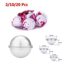 2/10/20Pcs Aluminum Bath Bomb Molds DIY Homemade Crafting Bath Round Ball Mould