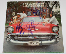 THE GUESS WHO ROCK BAND SIGNED RECORD ALBUM LP VINYL COA X3 BURTON CUMMNINGS+