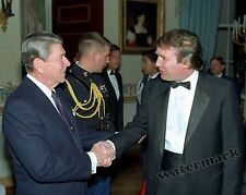 Photograph 45th U.S. President Trump & President Reagan at the White House 1987