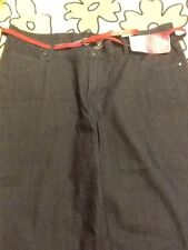 NWT Lee Riders Plus Size Classic Fit Denim Capri 24W Ink