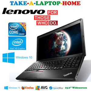"Lenovo ThinkPad Fast Laptop Gaming or Office Core i3 2.5GHz Huge 15.6"" Cam HDMI"