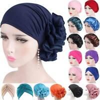 Women Muslim Turban Hats Flower Cancer Chemo Hair Loss Cap Hijab Head Scarf Wrap