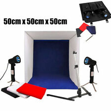 50cm Photo Studio Soft Box Tent Light Cube Photography Lighting 3 Backdrops Kit