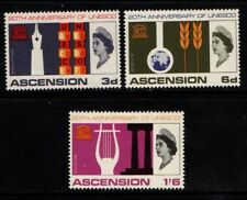 Ascension 1967 20th Anniversary of UNESCO SG107-09 Mint MH