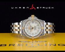 Breitling Callisto Lady Stahl/Gold DIAMANTLÜNETTE & ZIFFERBLATT Referenz B77346