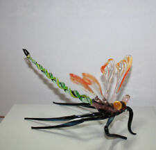 Art Blown Glass Murano Figurine Glass Dragonfly Figurine