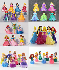 XMas Kids Gifts Princess Figures play sets ,cake toppers,Dress Changable Models