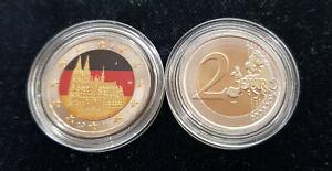 """MDS DEUTSCHLAND 2 EURO 2011 """"NRW - KÖLNER DOM"""" MIT FARBE / COLORIERT"""