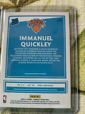 2020-21 Donruss Rated Rookie Immannuel Quickly Green Yellow