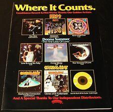 Kiss/Donna Summer/Parliament-ORIGINAL 1976 14.5x10.75 COLOR Ad/Poster!