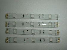 4 unidades LED RGB strip rojo verde azul blanco a 10cm autoadhesivas 12v DC