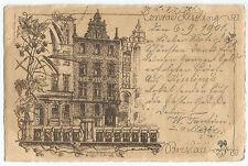 Artist Signed Hugo Ulbrich Breslau Conrad Kissling UDB Vintage 1901 Postcard