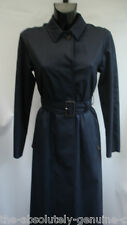 AQUASCUTUM Long 'HARLINGTON' Trench Rain Coat Size UK 8 NAVY Blue BNWT rrp £595