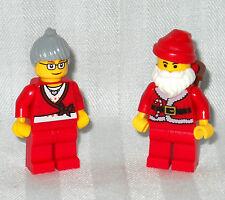 LEGO MR & MRS CLAUS MINIFIGURES, MINIFIGS, SANTA & WIFE, NEW!