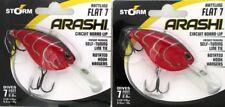 (2) Storm Arashi Rattling Flat 7 Circuit Board Lip Crankbaits Red Craw AFT07870