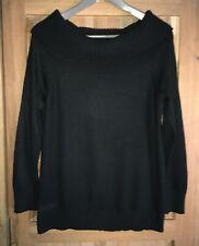 Wallis Ladies Black Jumper - Size: Petite M / UK 12