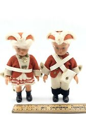 Set Of Two Vintage Celluloid West Germany Soldier Boy & Girl