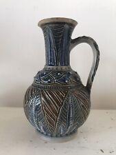 More details for antique victorian doulton lambeth (frank butler) stoneware pottery jug