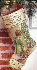 Cross Stitch Kit ~ Janlynn Christmas Morning Child XMAS Stocking #015-0238