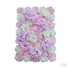 20 Pieces Artificial Flower Wall Panels Wedding Venue Decor 60 x 40cm