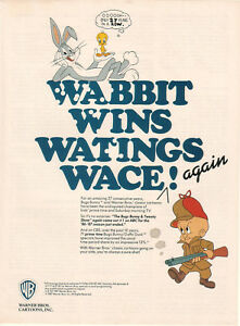 The Bugs Bunny & Tweety Show 1987 Ad- Wabbit Wins Watings Wace/ WB