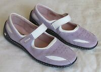 NEW Josef Seibel Ladies Violet Purple White Suede Leather Wedge Shoes Size 4