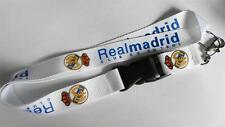 MOBILE PHONE/IDENTITY CARD LANYARD WHITE REAL MADRID LOGO LANYARD STRAP