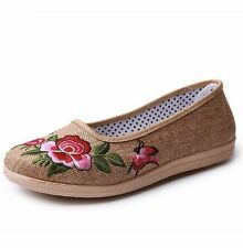 Women's Cotton Flats in Floral Pattern