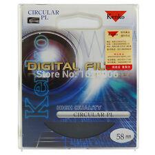 58 mm Top qualite Filtre Polarisant circulaire boite Kenko Japon