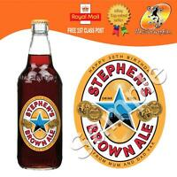 PERSONALISED BEER BROWN ALE BOTTLE LABEL BIRTHDAY ANY OCCASION GIFT