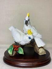 "Andrea by Sadek porcelain bird figurine ""Blue- Eyed Cockatoos"""