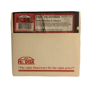 """Vintage Collectormate Software IBM PC Game 5.25"""" Floppy Disk Mr Disk #1101"""