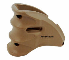 Airsoft Tactical Solid Magazine Fit Hand Well Grip (DE tan) AEG Foregrip