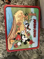 Mickey Mouse Lunchbox 1996 Series #1 School Bus Mickey & Friends Metal Lunch Box