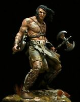 1:24 75mm Resin Figure Model Kit The Barbarian with Axes Unassambled Unpainted