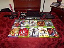 Microsoft Xbox 360 S 4GB Black Console w/ 10 Games, Kinect Sensor & More!