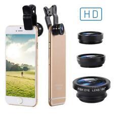 Phone lens Fisheye 3 in 1  0.67x Wide Angle Zoom lens fish eye 6x macro lenses