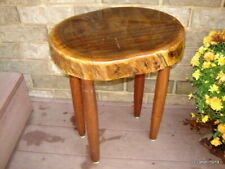 rustic-modern BLACK WALNUT TEA/COFFEE/end log-home TABLE~hand-crafted~furniture