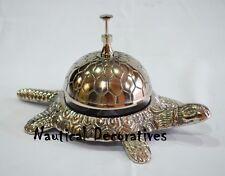 Vintage cast light weight Bell Silver tortoise table Decorative Desk bell Decor