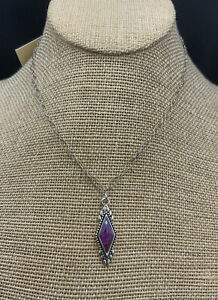Barse Anemone Necklace-Purple Turquoise -Sterling Silver- NWT