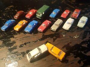 Spur N/1:160 Wiking; 15 x PKW, verschiedene Modelle und Farben
