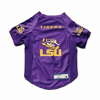 NEW LOUISIANA STATE UNIVERSITY LSU TIGERS DOG CAT DELUXE STRETCH JERSEY