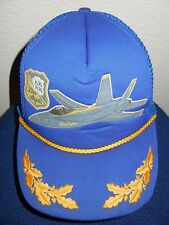 BLUE ANGELS Squad Flight Show TRUCKER HAT Baseball Cap Jet Fighter Pilot NAVY