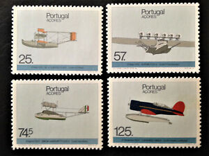 Aviation, 4 Stamps nº 1820/1823, full set, 1987, PORTUGAL Azores, MNH**
