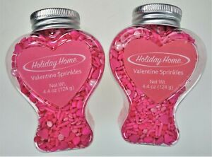 2 Wilton Holiday Home Valentine Heart Pink Love Sprinkles Cakes Cookies Decorate