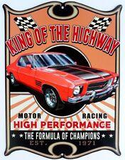 KING OF THE HIGHWAY MONARO GTS 2 DOOR  . All Weather Metal Sign 475x360