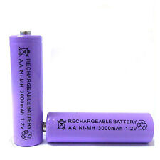 1 x AA Cell 3000mAh Ni-MH Rechargeable Battery Purple For CD player camera flash
