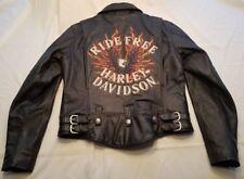 Harley Davidson Flame II Ride Free Heavy Weight Leather Jacket 98134-03VW Medium
