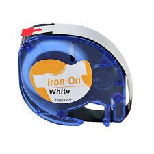 20PK DYMO LetraTag Plus LT100H QX50 LT 18771 Fabric Iron on White Labels 12MM